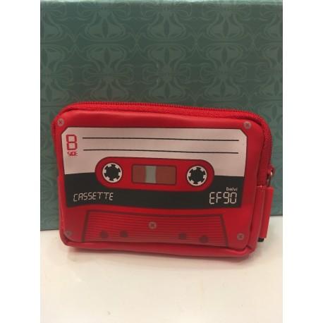 Cartera Cassette Roja